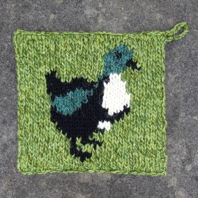 Pot Holder — Shetland Duck