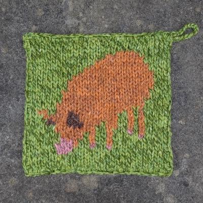 Pot Holder — Tamworth Pig