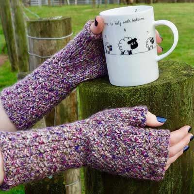 Arkleby Armwarmers kit — Orchid