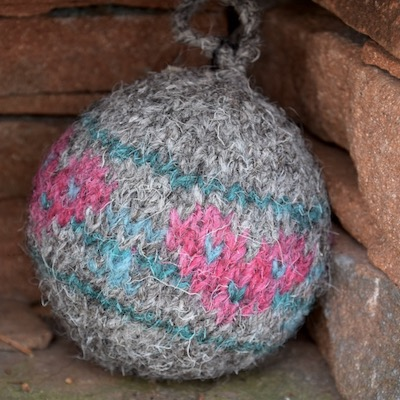 Fair Isle round bauble