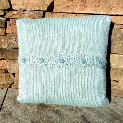 Beckside Cushion Kit in Wensleydale duck egg blue