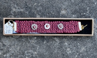 Wool and Wire Bracelet — Bluefaced Leicester (Plum)