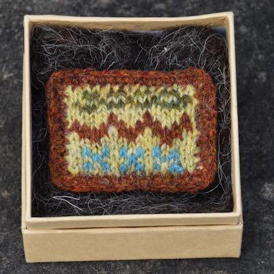 Fair Isle Pillow Brooch — Autumn