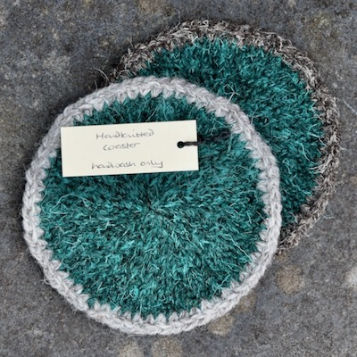 Pair of Coasters — Emerald