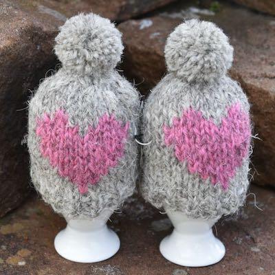 Egg Cosies — Herdwick Pink Heart
