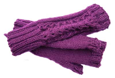 Fan Lace Mitts Kit: Aubergine