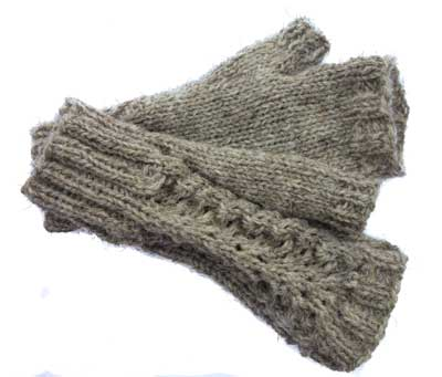 Fan Lace Mitts Kit: North Ronaldsay
