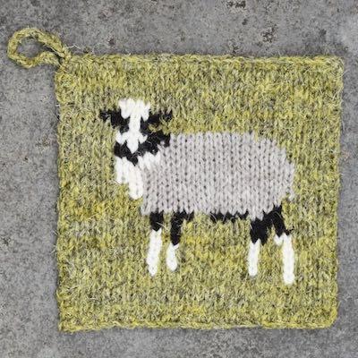 Pot Holder — Shetland Sheep