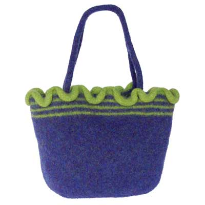 Ripple Bag kit — Blueberry with Chartreuse
