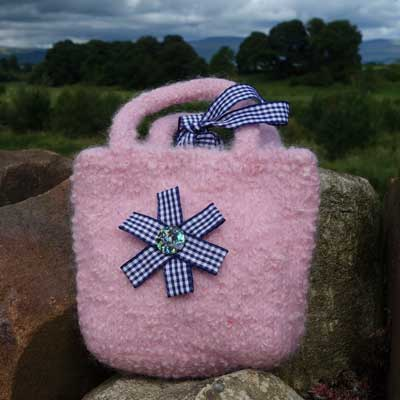 Rosette Bag in Baby Pink