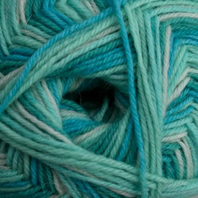 Seascape wool, 4 ply (100g balls)