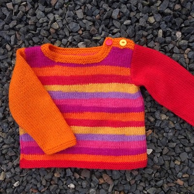 Sunburst Baby Sweater kit — Berry