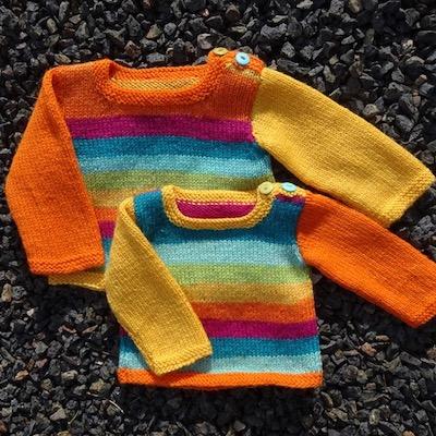 Sunburst Baby Sweater kit — Rainbow