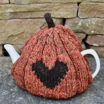 Heart Tea Cosy — Orange